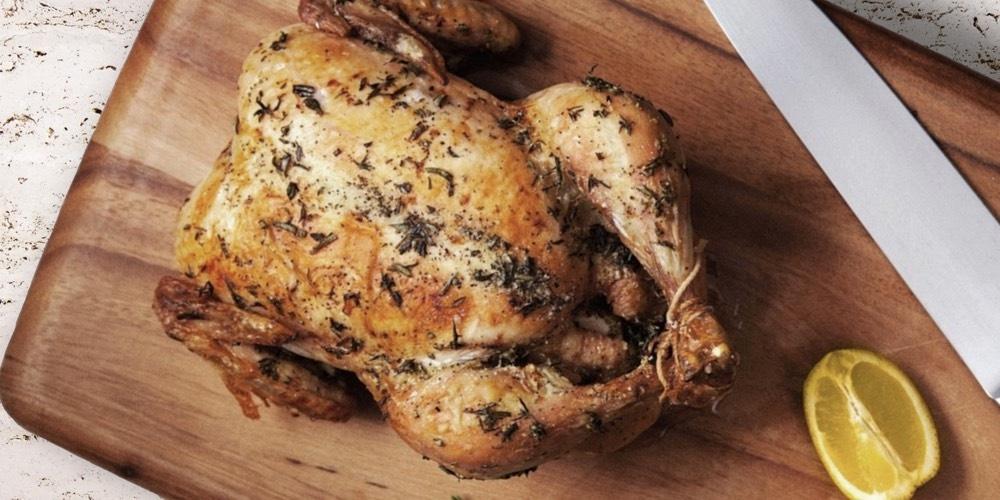 Grillet kylling i steinovn