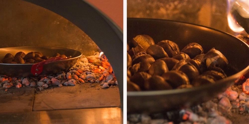 Grilling av kastanjer