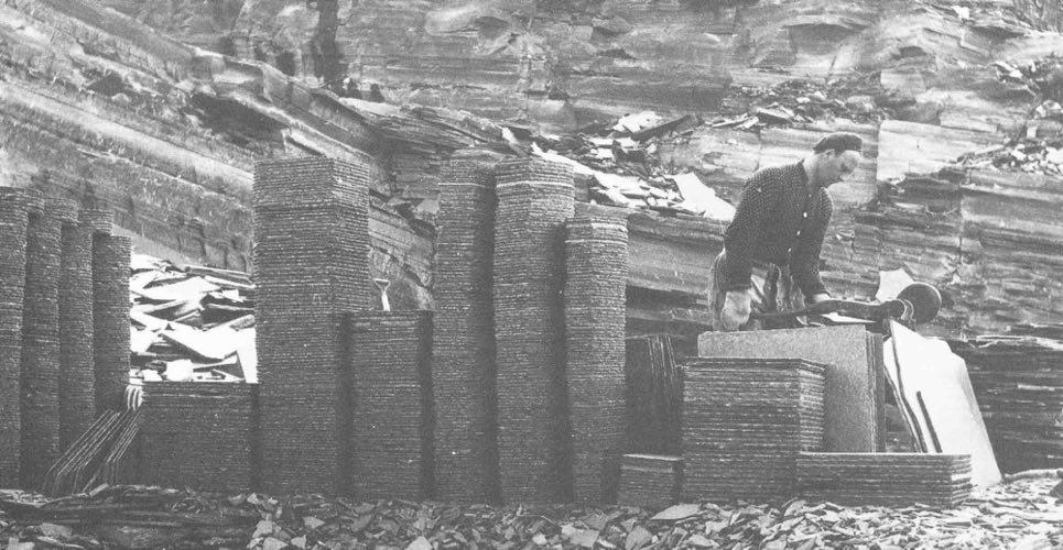 Produksjon av altaskifer i gamle dager